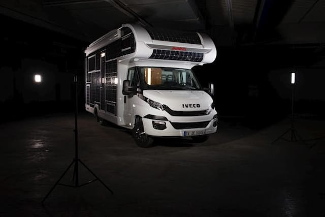 Solar-powered motorhome cruises with no need for fuel