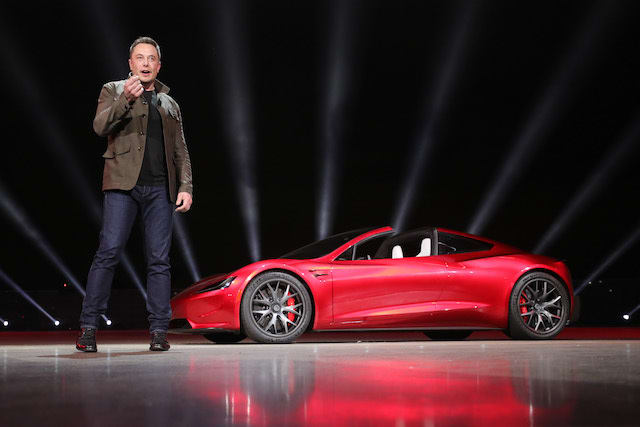 Tesla unveils new Roadster in surprise ceremony