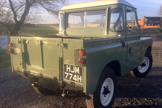 Land Rover that starred in new Peter Rabbit film up for auction