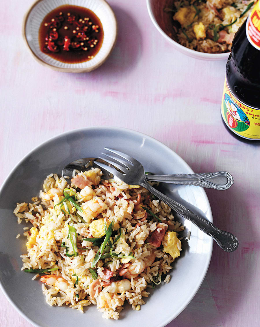 The key to a good fried rice dish is using slightly dried out