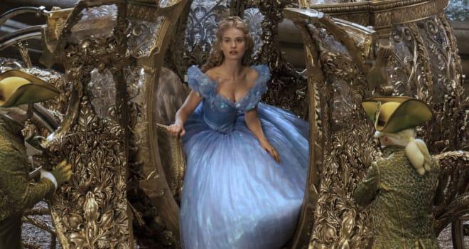 Lily James in Disney's Cinderella