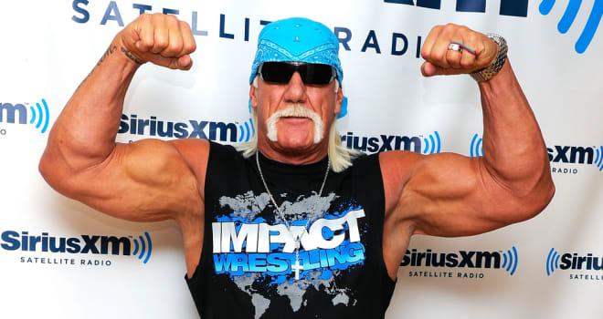 Hulk Hogan Flexes in New York on October 13, 2011