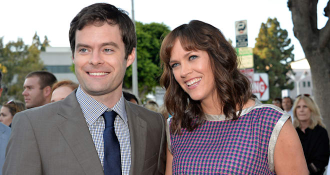 Bill Hader and Maggie Carey at the Premiere of 'The To Do List' in Hollywood on July 23, 2013