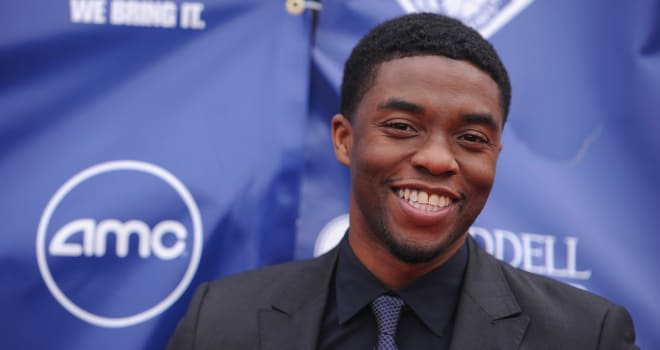 Chadwick Boseman at a Kansas City '42' Screening on April 11, 2013