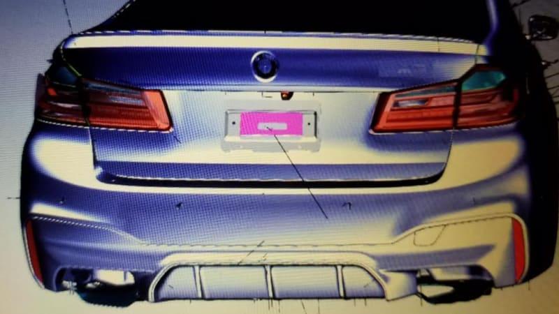 2018 BMW M5 rear fascia