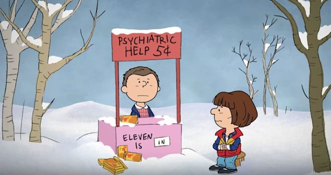 Stranger Thing meets Peanuts in ideal Christmas video
