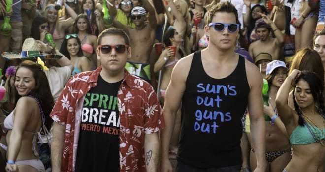 Jonah Hill, left, and Channing Tatum in Columbia Pictures'