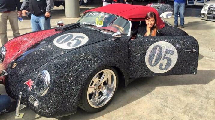 This Porsche was covered in Swarovski crystals by Kellie DeFries