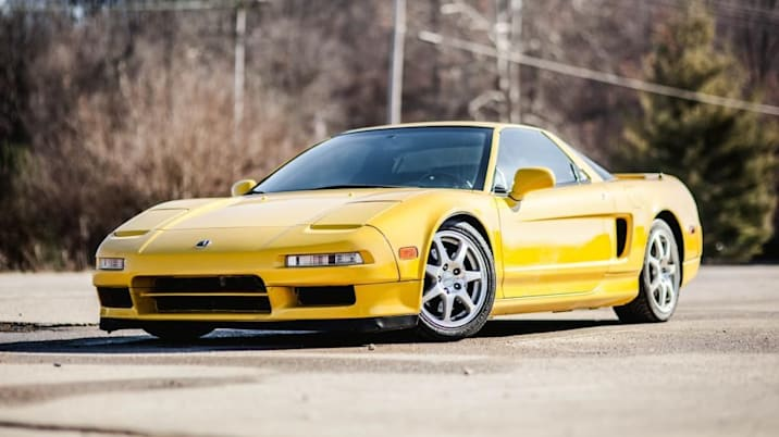Acura NSX front yellow
