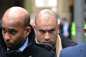 Mohammed Ferdhaus (centre) arrives at  Southwark Crown Court in central London, where he was jailed today for laundering at least half a million pounds from a crash-for-cash insurance scam. PRESS ASSOCIATION Photo. Picture date: Monday February 17, 2014. Ferdhaus admitted benefiting by at least ?500,000 as a result of the scam operated by his brother, Mohammed Samsul Haque. Ferdhaus, 40, of Brentwood, Essex, founded Channel S, a satellite television station for Britain's Bangladeshi community. Between 2005 and 2008 at least 124 claims were made by individuals linked to Motor Alliance, a company run by Haque. See PA story COURTS Ferdhaus. Photo credit should read: John Stillwell/PA Wire
