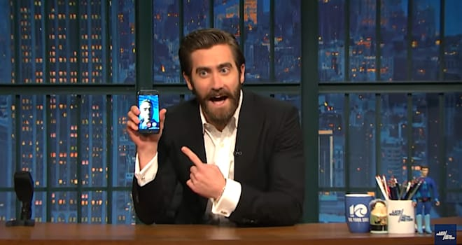 Watch Jake Gyllenhaal FaceTime Ryan Reynolds During 'Late Night' to Prove They're Friends
