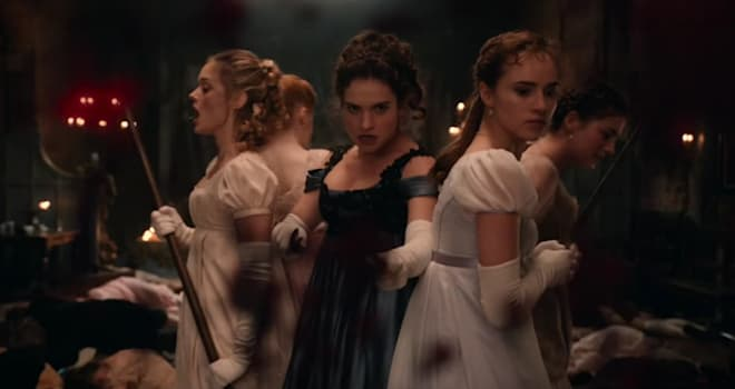 pride and prejudice and zombies, lily james