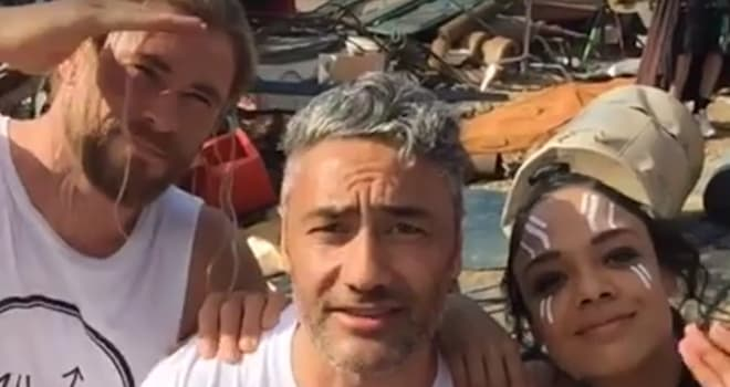 thor, thor: ragnarok, ragnarok, set tour, behind the scenes, production, wrap, taika waititi, chris hemsworth, tessa thompson
