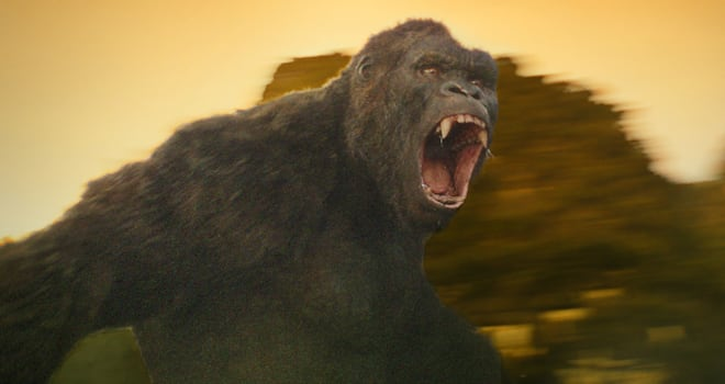 Kong is ready for battle in KONG: SKULL ISLAND