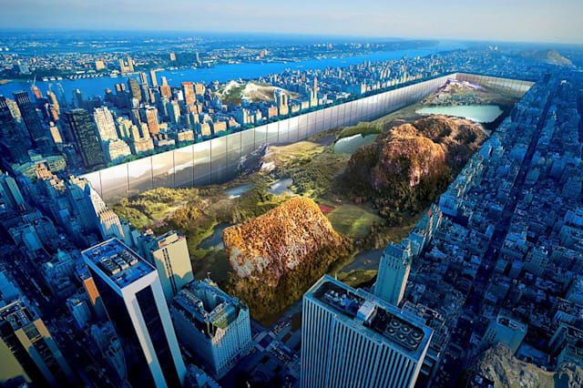 Designers propose to surround Central Park with 1,000 feet of glass