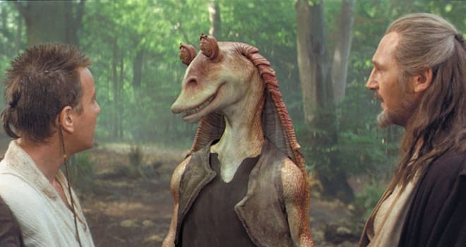 jar jar, jar jar binks, star wars, star wars theory, the force awakens
