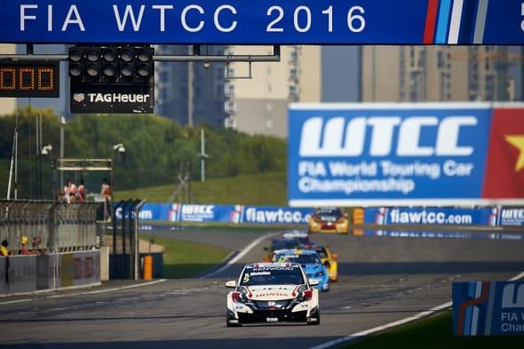 2016 EVENT: Race of China TRACK: Shanghai International Circuit TEAM: Honda Racing Team JAS CAR: Honda Civic wtccDRIVER: Norbert Michelisz