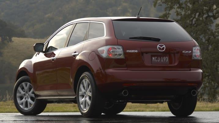 2008 Mazda CX-7 rear three-quarter view