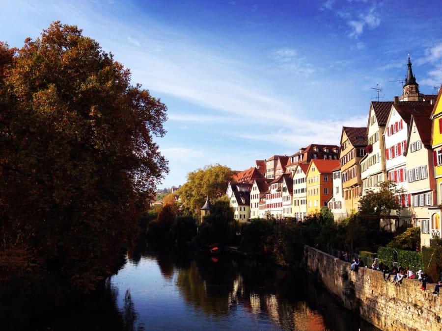 The beautiful university town of Tübingen in Southwestern
