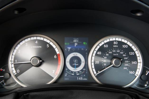 2015 Lexus NX 200t turbo boost gauge