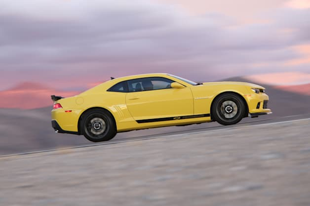 At the 2014 SEMA Show, Chevrolet demonstrated how owners of fifth-generation Camaro models (2010-15) can enhance their cars' performance with factory-engineered components from the 1LE and Z/28. Chevrolet tested three stages of Camaro performance at GM's Milford Road Course; the stock Camaro SS turned a 2:05.10 lap; the Ultimate Street Camaro SS concept, featuring components from the Camaro 1LE, turned a 1:59.30; and the Ultimate Track Camaro SS concept (shown here), featuring components from the Camaro Z/28, turned a 1:56.43.