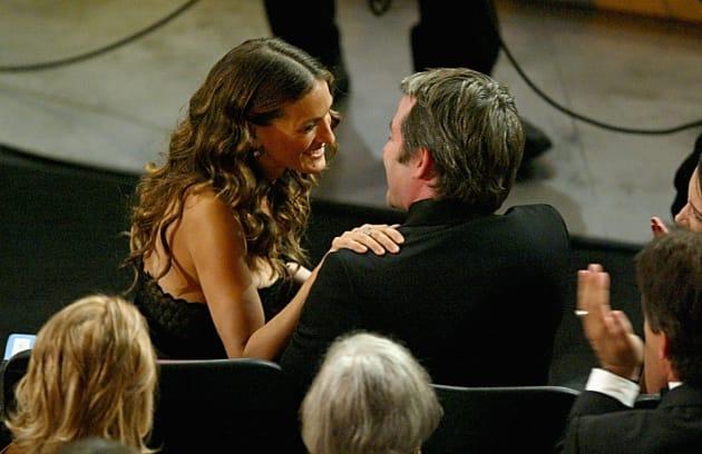 Sarah Jessica Parker hugs her husband Matthew Broderick after winning the award for most annoying female...