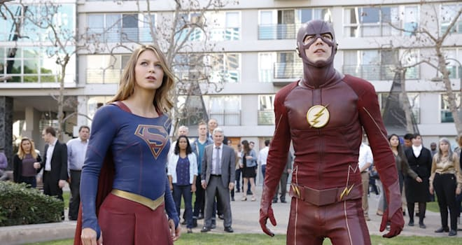 supergirl, the flash, crossover