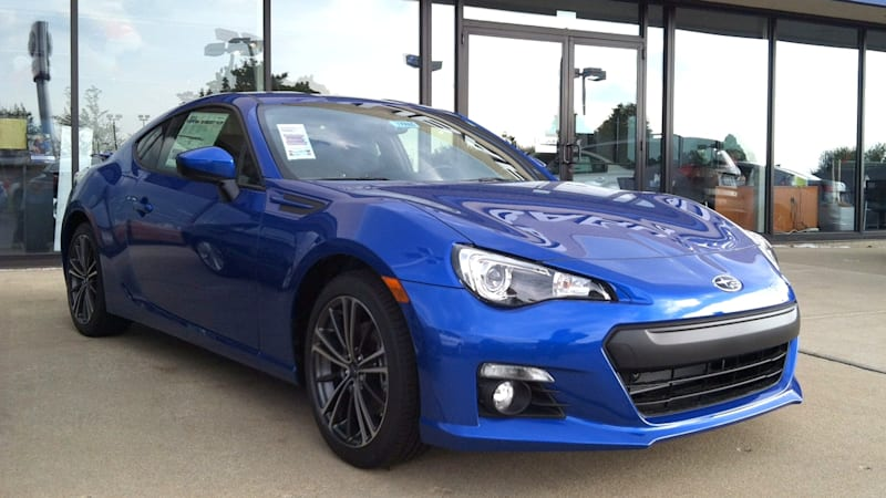Blue Subaru BRZ