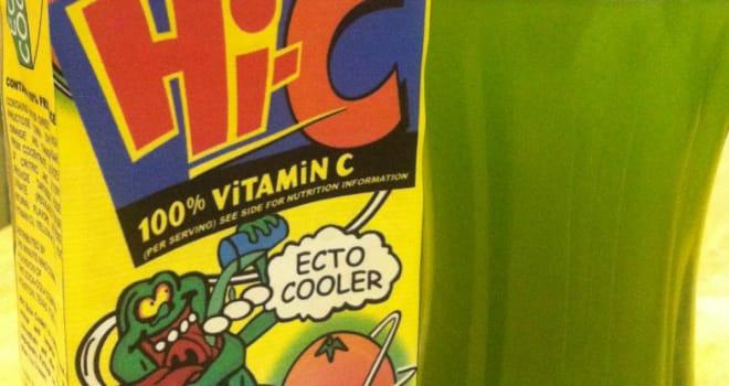 ecto cooler, hi-c, slimer, ghostbusters, return, reboot, coca-cola