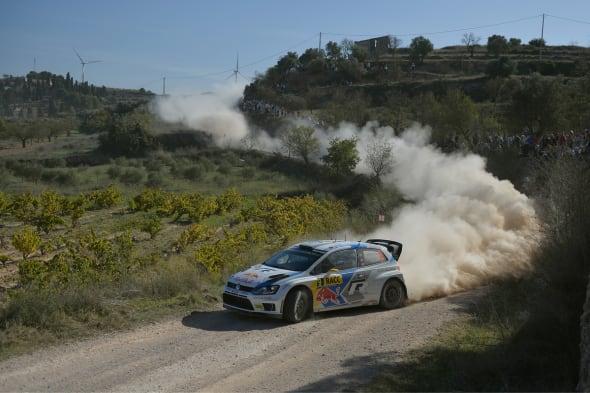 Andreas Mikkelsen (N), Ola Fløene (N)Volkswagen Polo R WRC (2014)WRC Rally Spain 2013