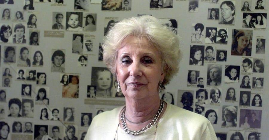 Estela de Carlotto, the president of the Grandmothers of the Plaza de
