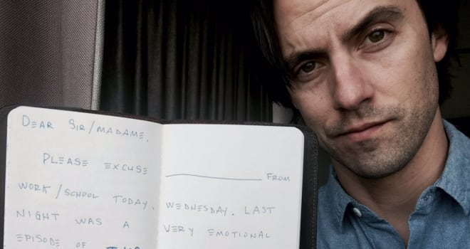 Milo Ventimiglia Wrote Emotional 'This Is Us' Fans a Note to Skip Work or School