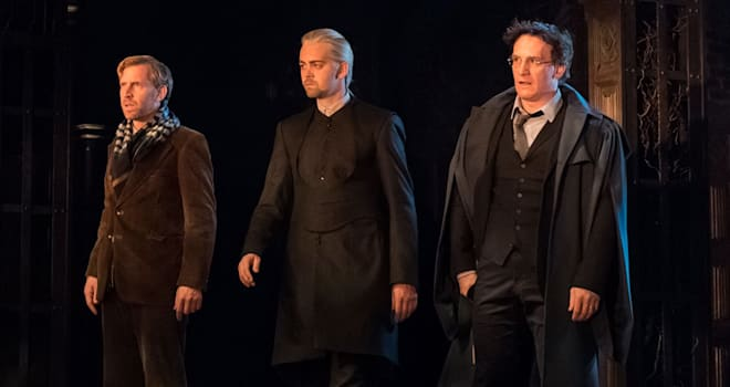 harry potter, harry potter and the cursed child, play, cursed child, harry, ron, draco, malfoy