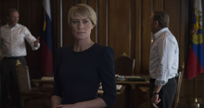 claire underwood in season 3 of House of Cards