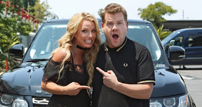 carpool karaoke, britney spears, james corden, the late late show