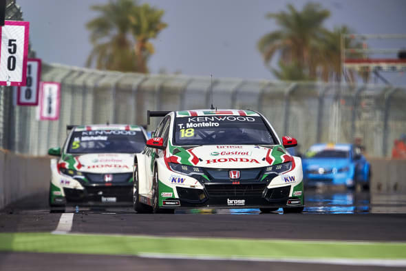 2017 EVENT: Race of Morocco  TRACK: Circuit Moulay El Hassan - Marrakech  TEAM: Castrol Honda World Touring Car Team CAR: Honda Civic wtccDRIVER: Tiago Monteiro