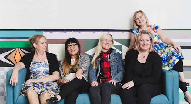 The team at Girl Geek Academy, who are raising the profile of women in technology and trying to encourage...