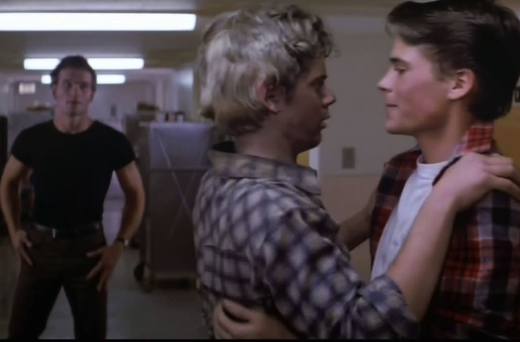 Patrick Swayze, Rob Lowe, C.T. Howell (The Outsiders 1983)
