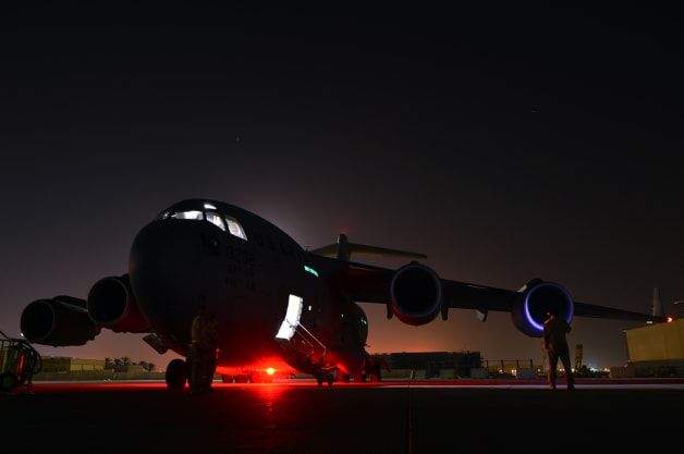 Humanitarian Airdrop over Iraq; 816th Expeditionary Airlift Squa