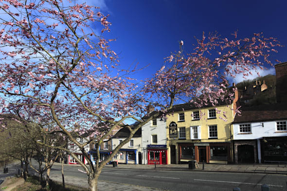 View of Ironbridge town