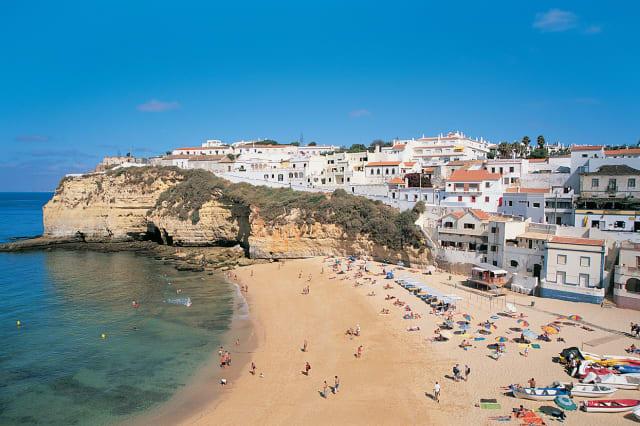 Beach at Carvoeiro, Algarve, Portugal
