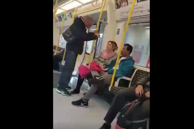Man assaults fellow passenger on tube