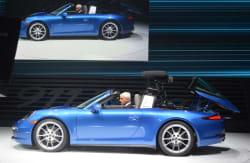 2014 Porsche 911 Targa with roof opening