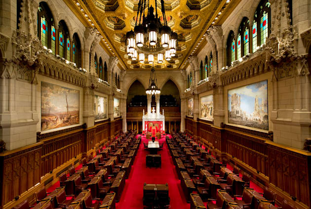 The Senate chamber on Parliament