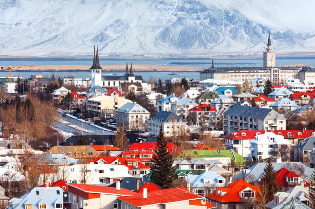 Cityscape Reykjavík, Iceland