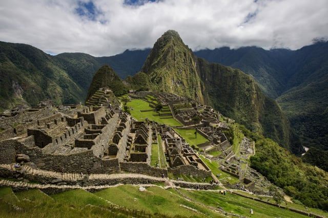 View Of The City of Machu Picchu, Cusco Region, Urubamba Province, Peru, South America