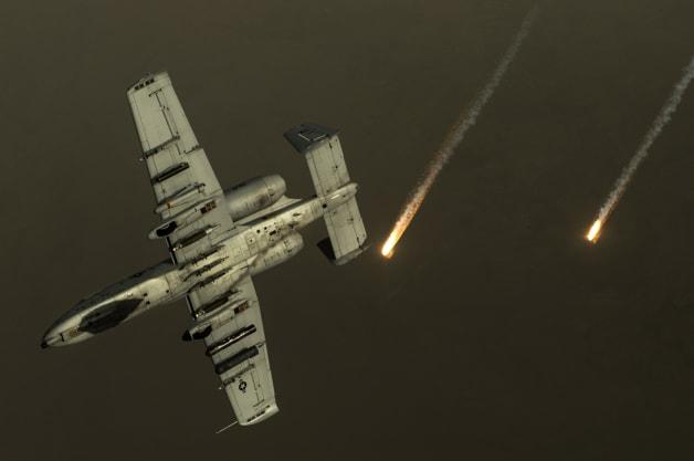A-10 Warthog Flares