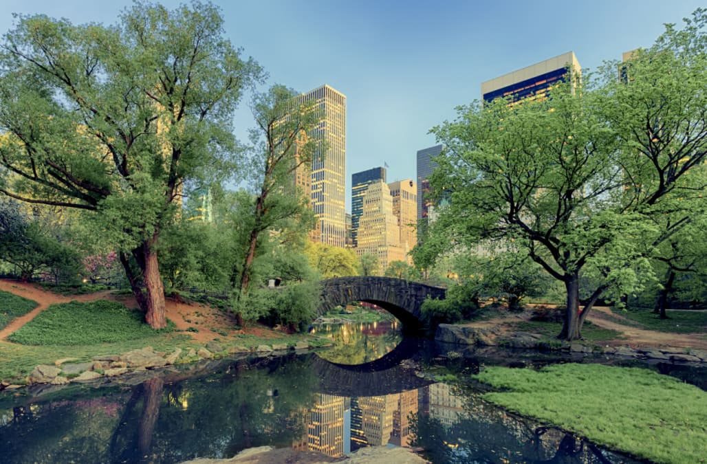 Gapstow Bridge in Central Park, New York City
