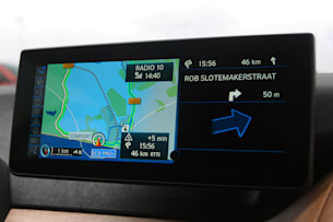 2014 BMW i3 nav screen