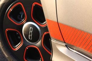 2013 Fiat 500e wheel